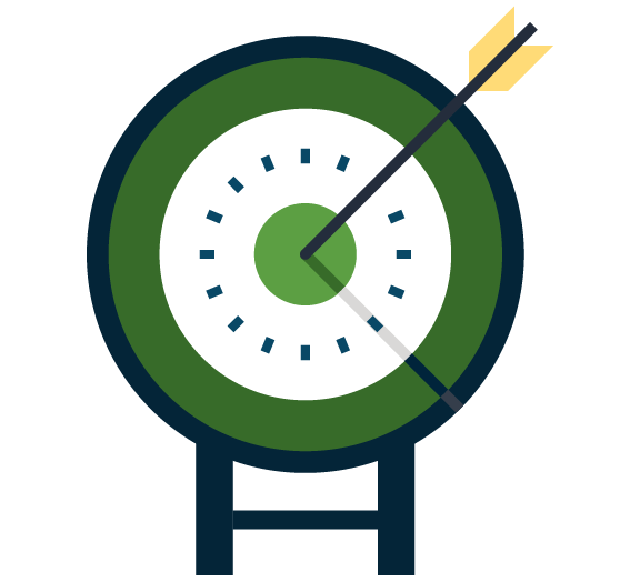 Icon of an archer's target