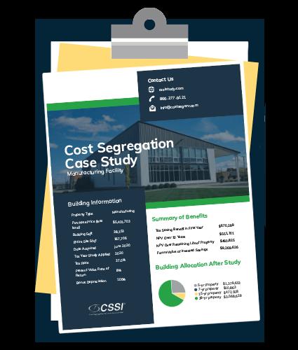 Cost Segregation Case Study on Clipboard