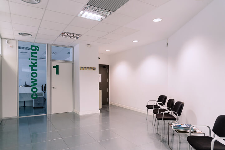 interior of clean office that qualifies for Section 179 Deduction